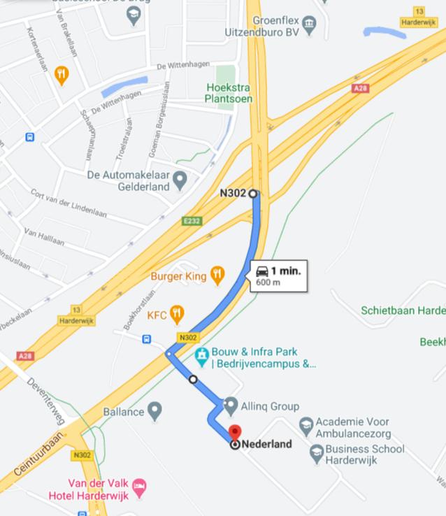 Route naar Bouw & Infrapark Second Opinion Harderwijk